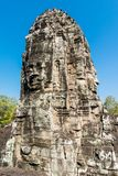 Giant Stone Faces at Bayon Temple royalty free stock photography