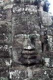 Giant stone faces at Prasat Bayon Temple, Cambodia Royalty Free Stock Images