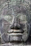 Giant stone faces at Prasat Bayon Temple, Cambodia Stock Photography