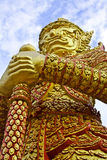 Giant. The stone giant poter in the temple royalty free stock photo