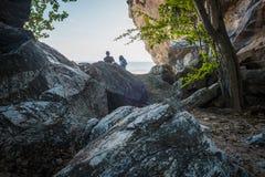 The giant stones view at `Khao Kalok` at Pranburi. royalty free stock image