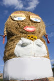 Giant straw puppet Royalty Free Stock Images