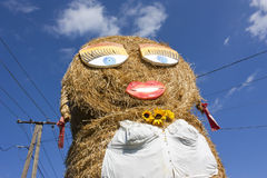 Giant straw puppet Royalty Free Stock Image