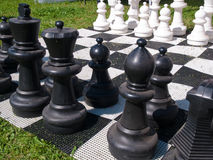 Giant street chess game Stock Image