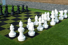 Giant street chess game Royalty Free Stock Image