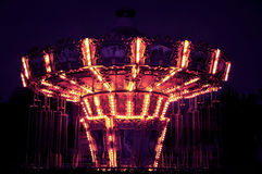 The giant stride in night, Shijingshan amusement park,Beijing,China Stock Images