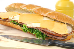 Giant sub Sandwich Royalty Free Stock Photo