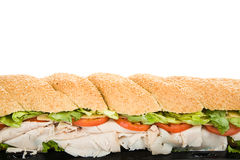 Giant Sub Sandwich Border Royalty Free Stock Images