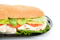Giant Sub Sandwich Closeup stock photos