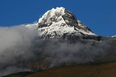 Giant summit. Covered by snow royalty free stock photography