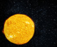 Giant sun with stars. Stock Photos