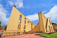 The Giant Sundial At Jantar Mantar. The Giant Sundial, known as the Samrat Yantra (The Supreme Instrument) is the world's largest sundial at Jaipur Jantar Mantar royalty free stock images