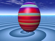Giant Surreal Easter Egg. Digital Illustration of an egg in a surreal enviroment Stock Photos