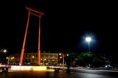 Giant Swing in Bangkok background Stock Images