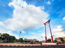 Giant Swing and Bangkok City Hall, Thailand. Landmark of Bangkok. Royalty Free Stock Photos