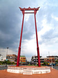 The Giant Swing , Bangkok Thailand. The Giant Swing (Sao Ching Cha) is a religious structure in Bangkok, Thailand . It was formerly used an old Brahmin ceremony Royalty Free Stock Photos