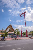 Giant Swing and City Hall, Landmark of Bangkok, Thailand. Royalty Free Stock Images