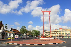 The giant swing located in front of wat suthat temple in bangkok thailand Stock Photos