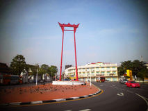Giant swing near Suthat Temple, Bangkok, Thailand Royalty Free Stock Photography