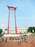 Giant swing near Suthat Temple, Bangkok, Thailand Stock Photos