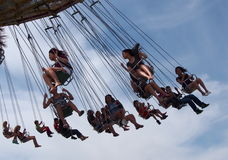 Giant Swing Ride At Edmonton Albesrta K-Days 2013 Royalty Free Stock Image