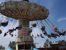 Giant Swing Ride At Edmonton Albesrta K-Days 2013 Stock Photography