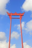 The giant swing (sao ching cha) on the background of the sky and clouds Royalty Free Stock Photography