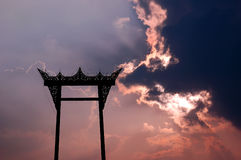 Giant swing Silhouette and explode lighting Stock Photography