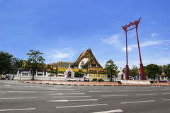 Giant Swing and Sutat Temple in Bangkok Stock Photo