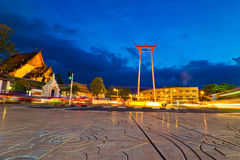 Giant swing in thailand Royalty Free Stock Photo