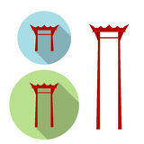 Giant Swing, torii gate icon Stock Photography