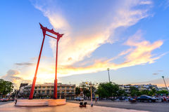 The Giant Swing at twilight in Bangkok, Thailand Royalty Free Stock Photos