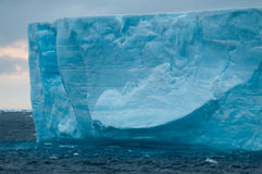 Giant Tabular Iceberg in the Anarctic Weddell Sea. A large tabular iceberg floating in the southern atlantic ocean, near Antarctica Royalty Free Stock Images