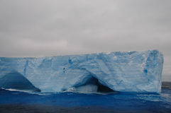 Giant Tabular Iceberg in the Anarctic Weddell Sea. A large tabular iceberg floating in the southern atlantic ocean, near Antarctica Royalty Free Stock Photography