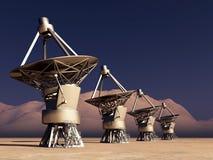 Giant telescopes Royalty Free Stock Photos