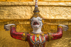 Giant at the temple in bangkok Royalty Free Stock Image