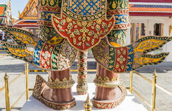 Giant in temple,Thailand. Foot giant of Thai architecture Royalty Free Stock Images
