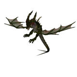 Giant terrifying dragon with wings and horns Stock Photo