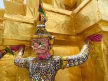 Giant of tha temple of the Emerald Buddha Stock Photography