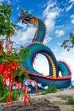 Giant Thai Naga Statue Stock Photo