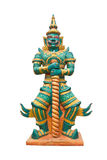 Giant In Thai Public Temple Standing. Giant In Thai Public Temple Standing On White Background Royalty Free Stock Photography