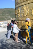 Giant Tibetan Prayer Wheel Stock Image