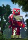 Giant tin toy robot Royalty Free Stock Photo