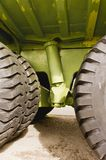 Giant Titan mining haul truck tires and suspension. On display in Sparwood, BC, Canada Stock Photography