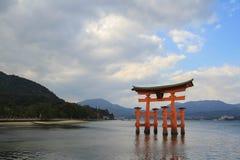 Giant Torii in Miyajima Stock Photo