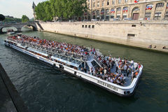Giant Tourboat in Paris Stock Images
