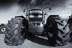 Giant tractor and tires Stock Photos