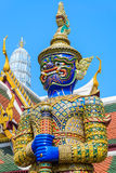 Giant. Tradition thai style statue in the temple of bangkok province (Thailand Stock Photography