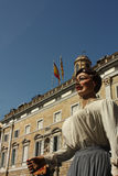 Giant in traditional festivals Barcelona. Royalty Free Stock Image