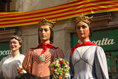 Giant in traditional festivals Barcelona. Stock Images
